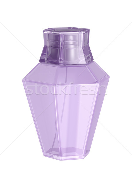 Homme parfum blanche isolé dame spray Photo stock © magraphics