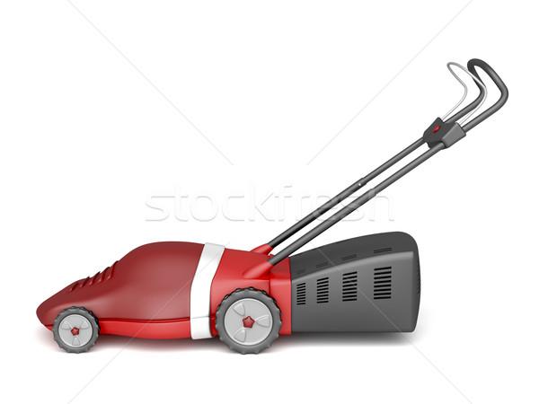 Piros fűnyíró elektromos fehér szerszám gép Stock fotó © magraphics