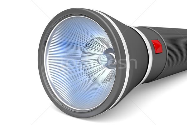 Lampe de poche image lumière électriques outil Photo stock © magraphics