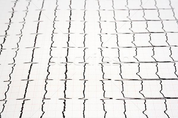 Baskı görüntü kardiyogram grafik Stok fotoğraf © magraphics