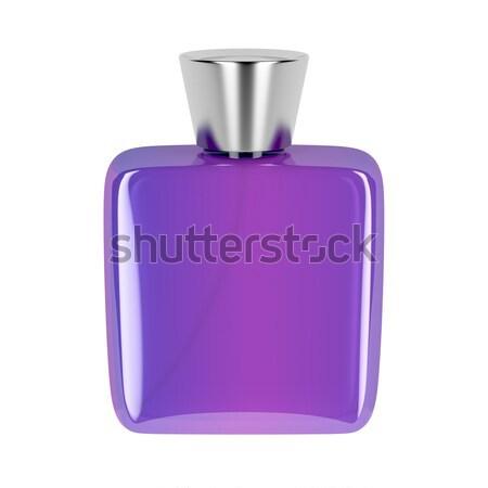 Roxo perfume garrafa isolado branco homens Foto stock © magraphics