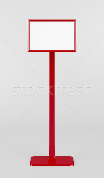 Rood info stand grijs Stockfoto © magraphics