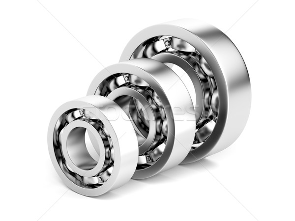 Three different ball bearings Stock photo © magraphics