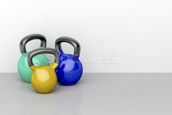 Three kettlebells Stock photo © magraphics