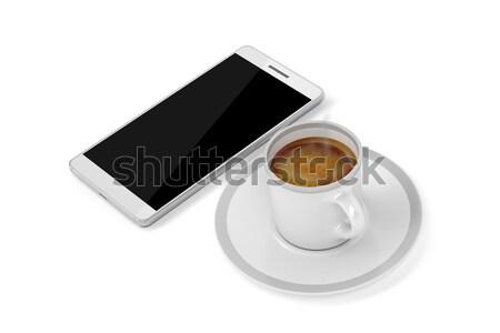 Espresso kahve beyaz üst görmek Stok fotoğraf © magraphics