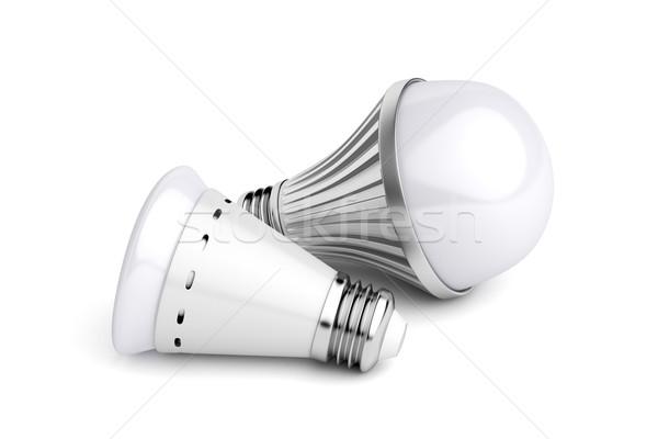 Witte groep energie elektriciteit elektrische Stockfoto © magraphics