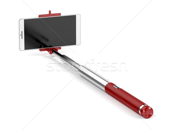 Photo stock: Bâton · téléphone · portable · blanche · téléphone · technologie · téléphone