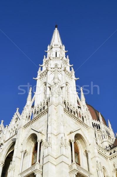 Parlamento Bina ayrıntılar Budapeşte Stok fotoğraf © magraphics