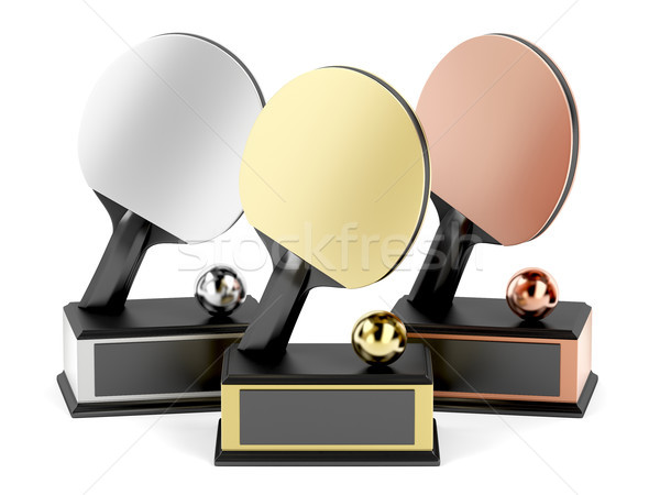 Table tennis trophies Stock photo © magraphics
