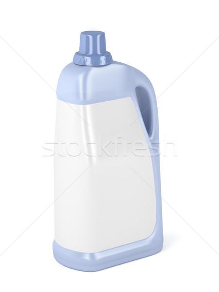 Grande plástico garrafa líquido detergente etiqueta Foto stock © magraphics