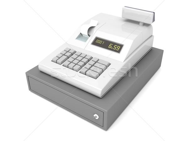 Cash register on white Stock photo © magraphics