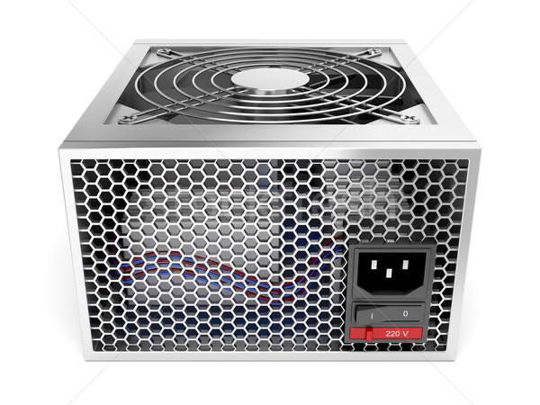 Source de courant ordinateur unité blanche technologie métal Photo stock © magraphics