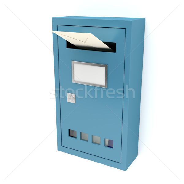 Blue mailbox Stock photo © magraphics