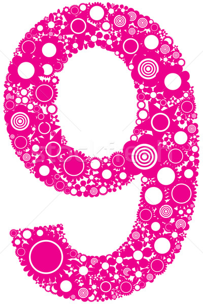 Number 9 Stock photo © magraphics