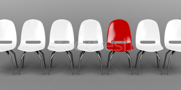 Unique red chair Stock photo © magraphics