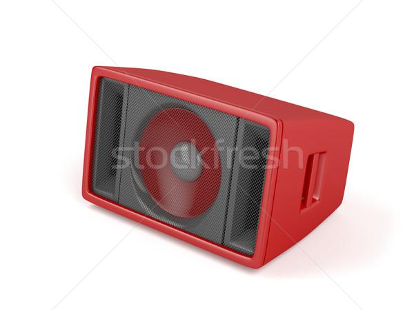 Piros színpad hangszóró fehér zene hang Stock fotó © magraphics
