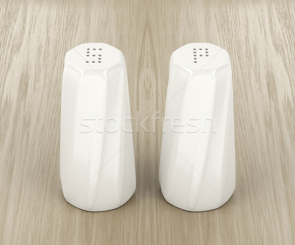 White porcelain salt and pepper shakers Stock photo © magraphics
