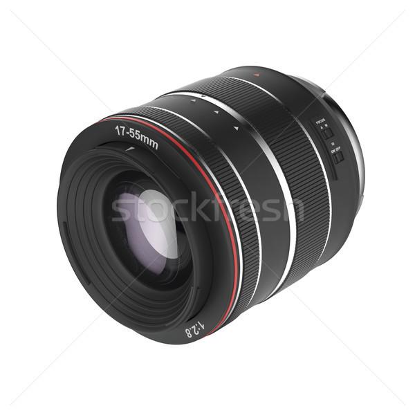 Zoom lenti isolato bianco vetro foto Foto d'archivio © magraphics