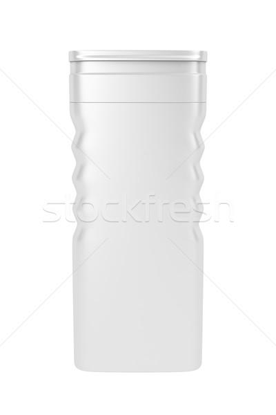 Shampoo bianco plastica bottiglia isolato bagno Foto d'archivio © magraphics
