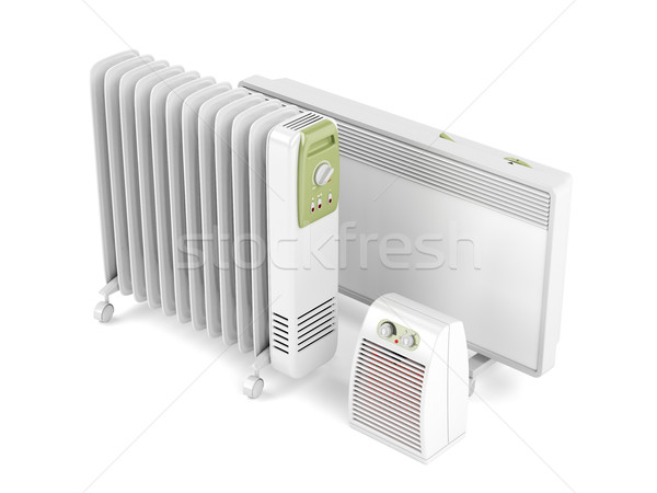 Fan, oil-filled and convection heaters Stock photo © magraphics