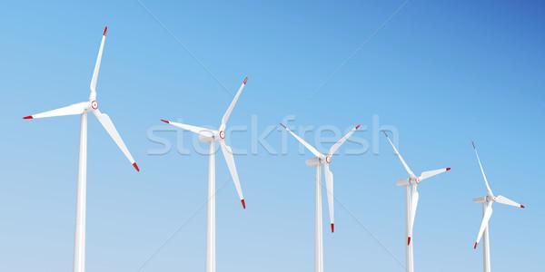 グループ 風力タービン 風 クリーン 電気 塔 ストックフォト © magraphics