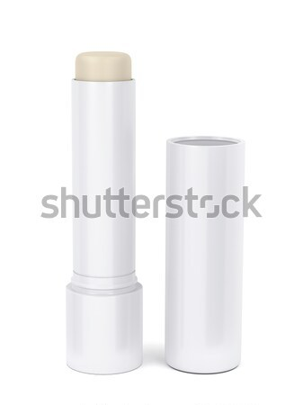 Stockfoto: Lip · balsem · stick · Open · witte · schoonheid
