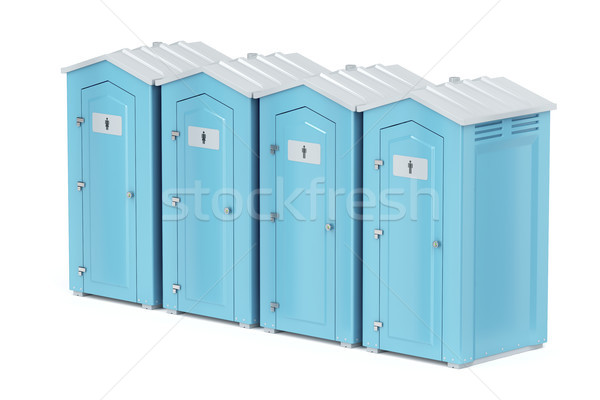 Portable plastic toilets Stock photo © magraphics