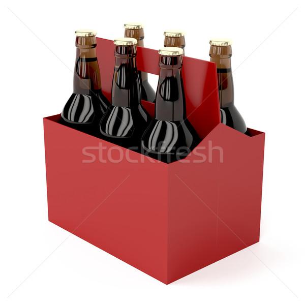 Dark beer bottles Stock photo © magraphics