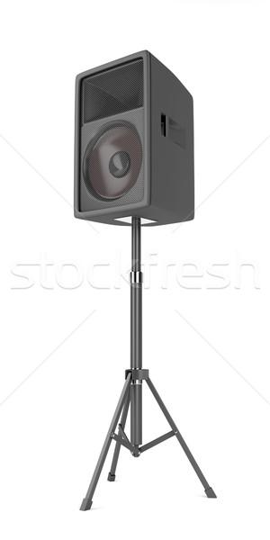 Big speaker on white  Stock photo © magraphics