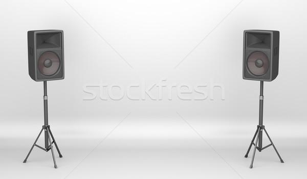 Koncert színpad nagy hangfalak üres sztereó Stock fotó © magraphics