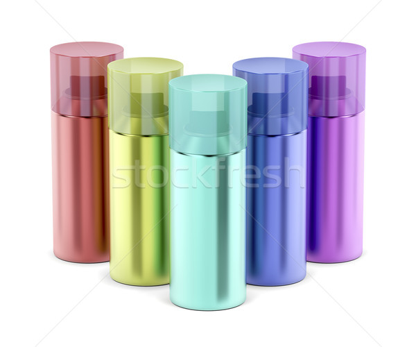 Multicolored aerosol spray cans Stock photo © magraphics