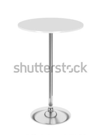 Branco mesa de café isolado café casa mobiliário Foto stock © magraphics