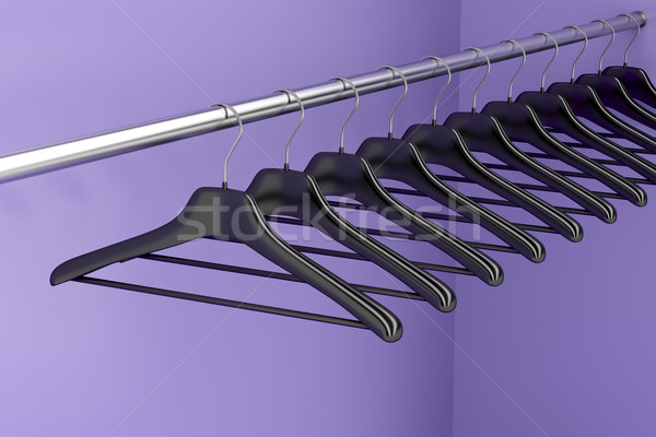 Hangers in the closet  Stock photo © magraphics