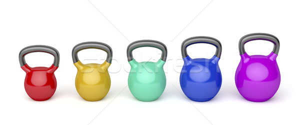Diferente frente vista colores blanco fitness Foto stock © magraphics