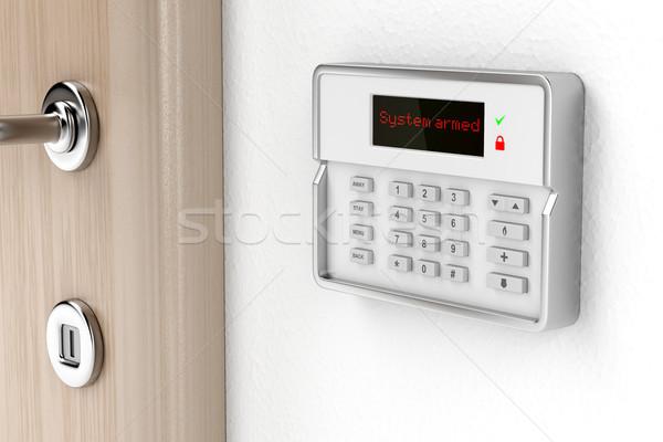 тревогу панель управления стены технологий безопасности безопасной Сток-фото © magraphics