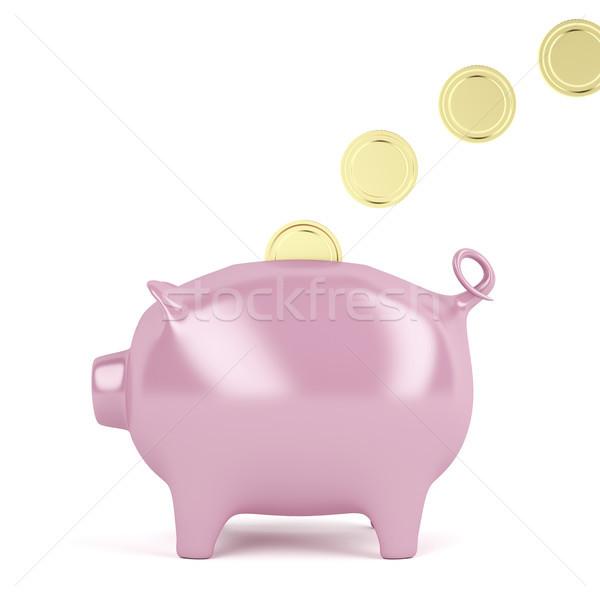 Zdjęcia stock: Banku · piggy · monet · nadzienie · złoty · finansów · zabawki