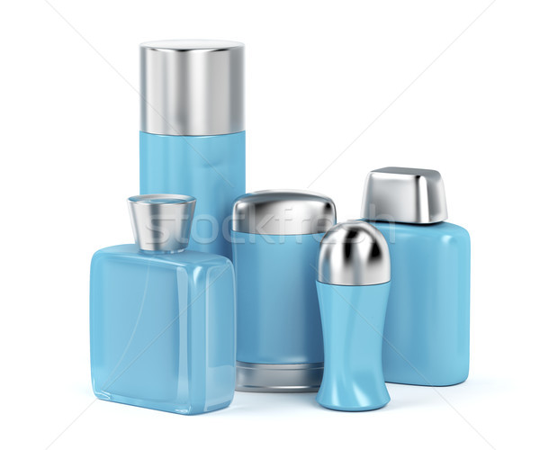Men's cosmetic products on white background Stock photo © magraphics