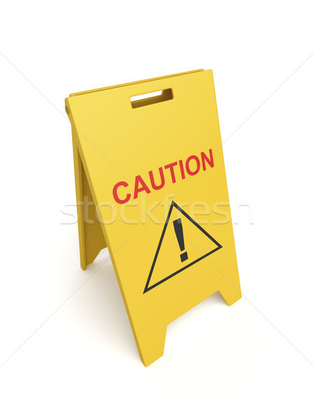 Caution sign Stock photo © magraphics