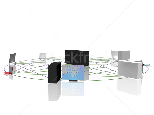 Computer network Stock photo © magraphics
