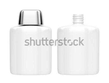 Loção após barba loção garrafas abrir fechado perfume Foto stock © magraphics