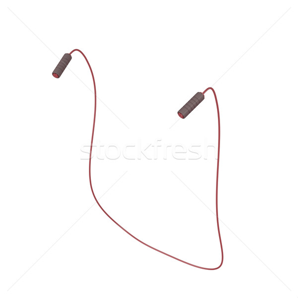 Jump rope on white  Stock photo © magraphics