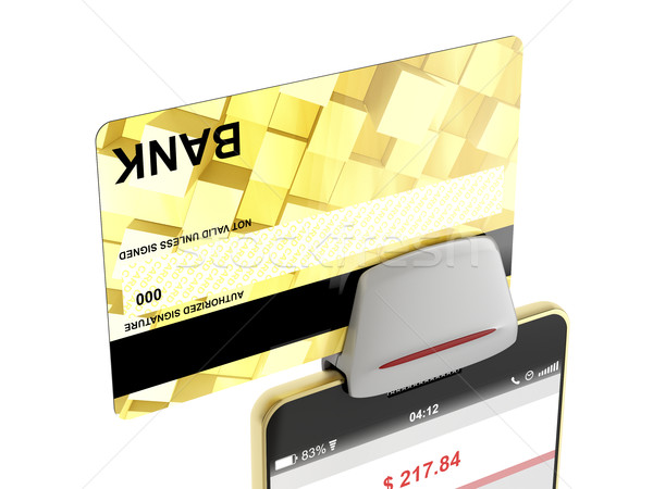 Paying with credit card Stock photo © magraphics