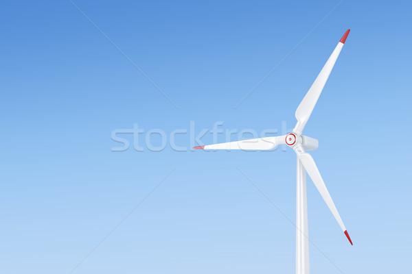 風力タービン 青空 電源 風 電気 クリーン ストックフォト © magraphics