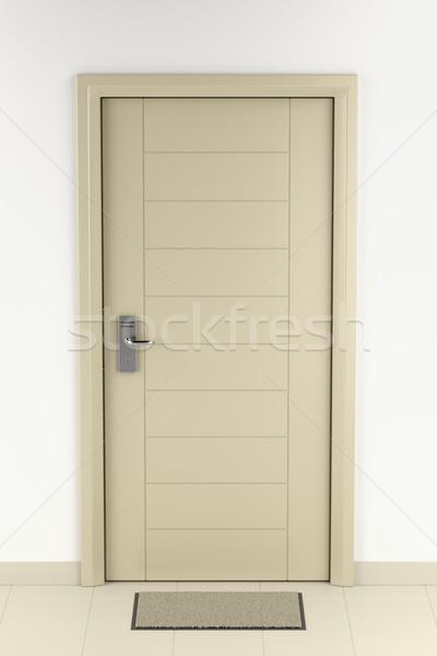 Doormat in front of the door Stock photo © magraphics