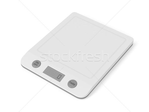 White kitchen scale Stock photo © magraphics