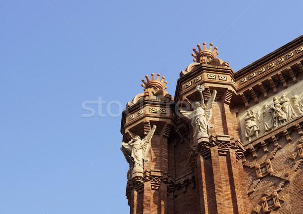 ív Barcelona közelkép ív Spanyolország Stock fotó © magraphics