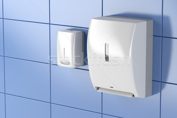 Paper towel and soap dispensers Stock photo © magraphics