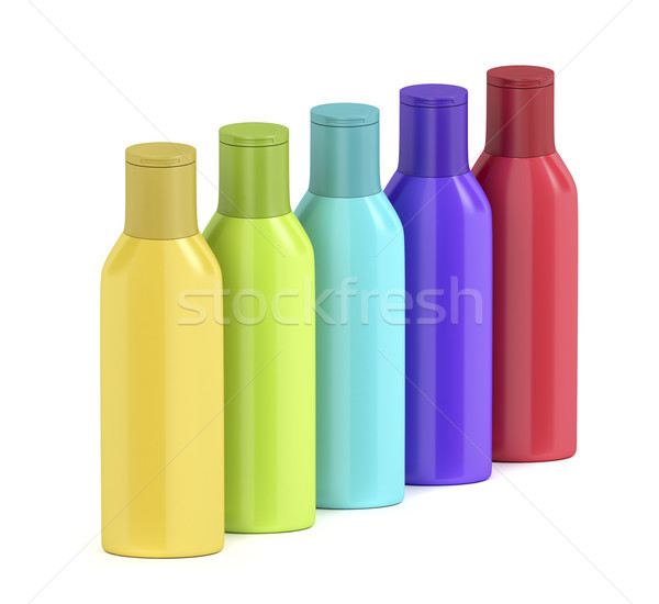 Plastic bottles for cosmetic liquids Stock photo © magraphics