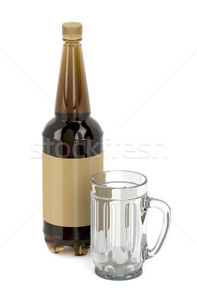 Foto stock: Vazio · caneca · grande · branco · vidro