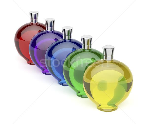 ликер бутылок различный цветами пять Сток-фото © magraphics